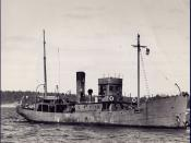 Photograph of Canadian Battle class naval trawler HMCS St Eloi.