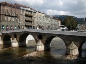 Latin bridge (prev. Princip bridge) in Sarajevo. Site of the assassination of Archduke Franz Ferdinand which started WW I.