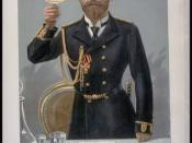 Caricature of Czar Nicholas II of Russia. Caption read