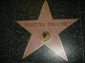 English: Hollywood Star on Hollywood Walk of Fame - Sylvester Stallone