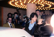 Sylvester Stallone at the private party after the premiere of the movie FIST, 1978