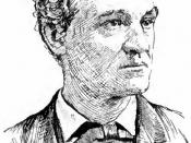 English: Portrait drawing of John Griffin Carlisle, U.S. Senator from Kentucky and secretary of the treasury under Grover Cleveland.