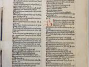 Leaf pi1r of an incunable edition of Boethius's De consolatione philosophiae (Nuremberg: Anton Koberger, 23 June 1486; ISTC ib00781000) with rubrication (capital strokes and paragraph marks in red; initials in red or blue)