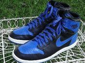 Air Jordan 1, Blue & Black these are NOT nike Air Force Ones. Air Jordan 1 was not based on the Nike DUNK
