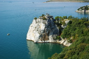 English: The peninsula near castle Duino, Trieste, Italy