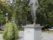 English: First Croatian President Franjo Tudjman Memorial in Slavonski Brod, Croatia