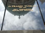 grob Franje Tuđmana na Mirogoju u Zagrebu, Hrvatska