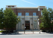 English: Bakersfield California Building, home of the The Bakersfield Californian, Bakersfield, California, USA.