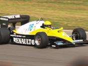 An ex-Eddie Cheever Renault RE40 Formula One car being demonstrated during the World Series by Renault event at Donington Park, September 2007.