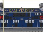 Final Score -- Ram Stadium Shepherd University (WV) Saturday November 10, 2012