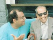 English: Mohamed El-Dessouki with Nagiub Mahfouz in Alexandria Egypt