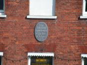 English: John Keats plaque, Eastgate Square Here John Keats began to write The Eve of St Agnes 1819