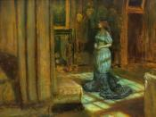 Madeleine undressing, painting by John Everett Millais