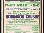 Pastomimes - Robinson Crusoe (the Pantomime Hero)
