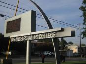 A display marquee at Los Angeles Valley College on the corner of Fulton Ave & Oxnard St.