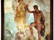 Wall painting from Pompeii found in the
