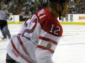 English: Ice hockey forward Jarome Iginla in action during Hockey Canada's Red-White game at pre-Olympic camp in Calgary, Alberta.