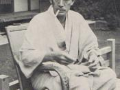Naoya Shiga at his Tokyo home, September 1938.