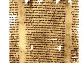 English: Dead Sea Scroll - part of Isaiah Scroll (Isa 57:17 - 59:9), 1QIsa b