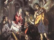 El Greco, Adoration of the Shepherds lit by the Christ Child