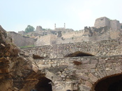 Picture of Golconda fort.