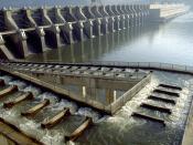 John Day Dam fish ladder on the Columbia River, North America