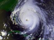 Hurricane Floyd near peak intensity on September 14 at 2030 UTC. This image was produced from data from NOAA-14, provided by NOAA.