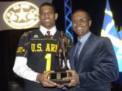 East quarterback Terrelle Pryor of Jeannette, Pa., was selected U.S Army high school football Player of the Year during an awards banquet in San Antonio, Texas. Pryor and 90 of the top football players in the nation meet at the Alamodome in an East vs. We
