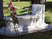 Tyrone Power's grave in Hollywood Forever Cemetery