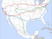 Jack Kerouac's trips around America