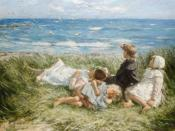 English: Sea Gulls and Sapphire Seas by Robert Gemmell Hutchison, 1909