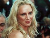 Uma Thurman in Cannes Red Carpet in 2000