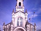 English: Cathedral of Rafaela, province of Santa Fe, Argentina. Consecrated to Saint Raphael the Archangel. Español: Catedral de Rafela, provincia de Santa Fe. Consagrada a San Rafael Arcángel.La piedra fundamental de la Catedral fue colocada en 1908.