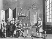 English: The first lecture in Experimental Philosophy, which took place in London in 1748.