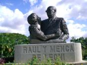 English: Raúl Leoni and Doña Menca monument, Ciudad Bolívar.