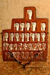 Handabdruecke der Satis im Palast von Jodhpur / Rajasthan