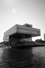 Exterior shot of the ICA, Institute of Contemporary Art, Boston, September 2, 2007