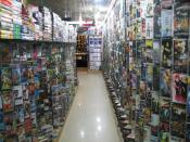 Inside a video store in Islamabad, Pakistan.