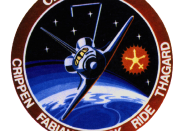 Mission patch for the STS-7 mission.