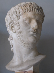 English: Bust of Nero at the Capitoline Museum, Rome