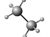 Česky: Prostorová geometrie molekuly ethanu