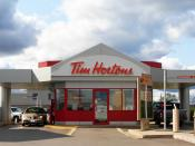 English: A drive thru only Tim Hortons location in Moncton