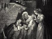 Illustration for Charles Perrault's Cinderella from Histoires ou Contes du Temps passé: Les Contes de ma Mère l'Oye(1697). Gustave Doré's illustrations appear in an 1867 edition entitled Les Contes de Perrault. First of three engravings
