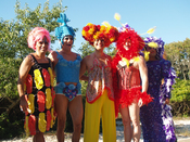 English: Priscilla Queen of the Dessert drag queen homage on Fire Island