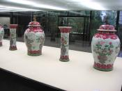 Qing Dynasty vases, in the Calouste Gulbenkian Museum, Lisbon, Portugal.