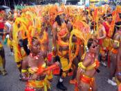 Carnival Masqueraders in Trinidad and Tobago