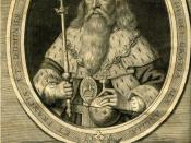 English: King Edward III of England as depicted in an engraving from The History of that Most Victorious Monarch Edward IIId by Joshua Barnes, 1688.