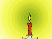 candle with electromagnetic wave rings