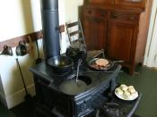 Lincoln family wood fired stove in the kitchon of the Springfield Lincoln home, Illinois