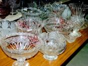 English: Waterford Crystal tour - Quality control Quality control checks are performed throughout the entire manufacturing process. A crystal piece is destroyed at any stage if a flaw is detected or an inaccurate cut is made. No seconds are produced.